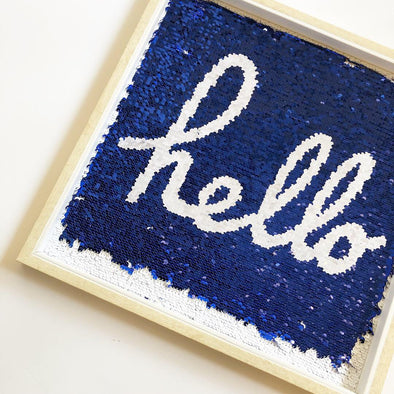 Sequin Hello Frame