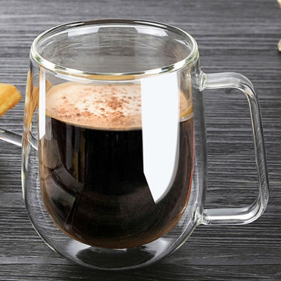 Double Wall Glass Mug -  250ml, High Quality,  Fashion Mug