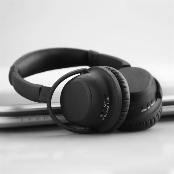 Active Noise Cancelling Bluetooth Headphones - Deep Bass Headphones with Microphone