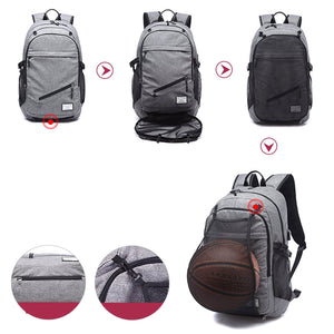 Basketball Backpack with USB Charging and Water-Resistant Fabric