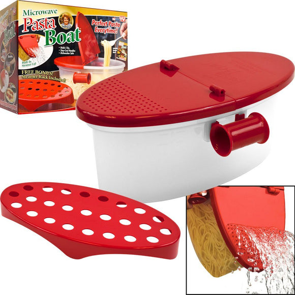 Perfect Pasta Microwave Cooker with Strainer