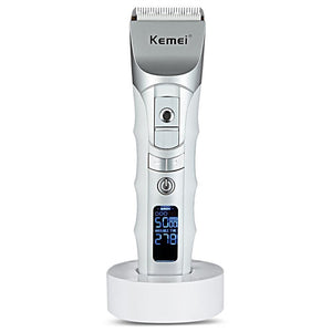 Rechargeable Professional Hair Trimmer with LCD Display