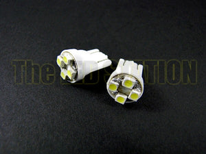 WHITE SMD 4-LED Bulbs (Pair) 194 168 158 2825