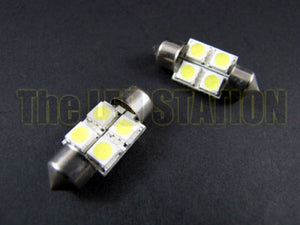 WHITE 4-LED SMD DE3175 DE3021 DE3022 3175 (Pair)