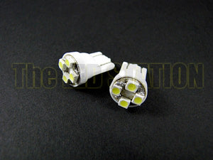 White 4-LED SMD License Plate Lights Honda Civic 92-95