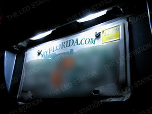 White 4-SMD LED License Plate Lights Honda Accord 98-02