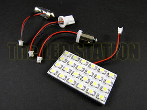 White 24-SMD LED Interior Dome Light Panel Scion XB 04-07