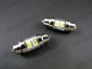 White SMD 4-LED Tube Bulbs (pair) DE3175 DE3021 DE3022 3175