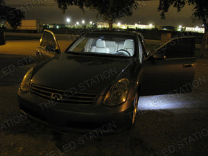 White SMD LED Door / Puddle Lights Infiniti G35 Coupe