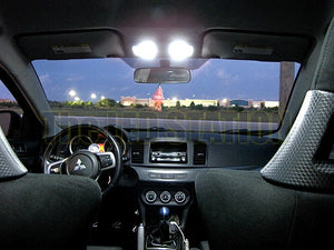 Mitsubishi Evolution X LED interior dome lights