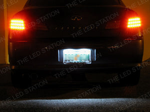 White 4-LED SMD License Plate Light Bulbs Infiniti G35