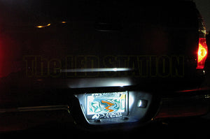 White LED License Plate Lights Silverado 07-12