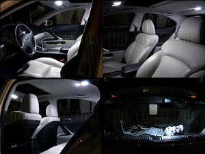 White LED Interior Dome Map Trunk Light Kit Lexus IS250 IS350 06-13