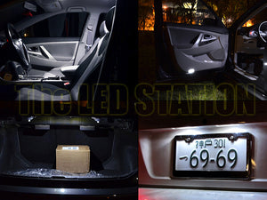 White LED Interior Lights Dome Map Door Trunk for Toyota Camry 2007-2011 (8 pcs kit)