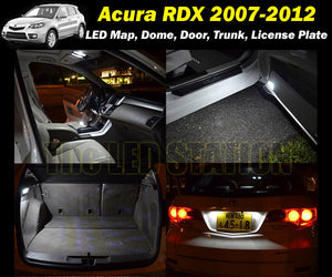2007-2012 RDX White LED Interior and License Plate Lights Package