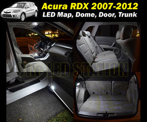 2007-2012 RDX White LED Interior Lights Package