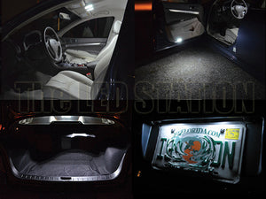 Infiniti G37 Coupe LED Interior Map, Door, Trunk, License Plate Lights Kit