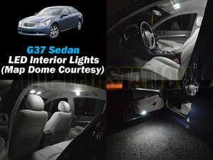 Infiniti G37 Sedan White SMD LED Interior Lights Package