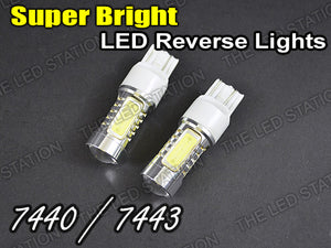 Bright High Power White LED Light Bulbs OE Part Number 7440 / 7443 T20 (Pair)