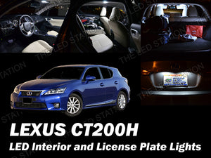 White SMD LED Interior and License Lights Package Lexus CT200H 2011-2017