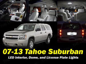 White SMD LED Interior Map Dome Cargo License Plate Lights 07-13 Suburban Tahoe