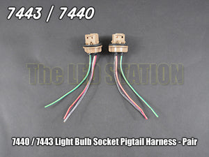 7440 7443 Light Socket Pigtail Harness (Pair)