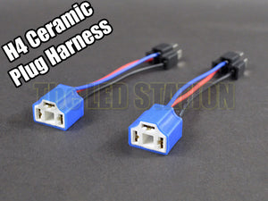 H4 9003 Ceramic Sockets Plugs Harness