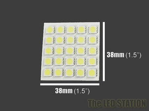 25-SMD LED Interior Dome Light Panel (White) Universal Fitment