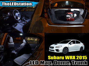 White SMD LED Interior Map Dome Trunk Lights 2015-2017 WRX