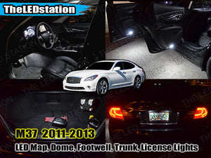 SMD LED Interior and License Plate Lights for Infiniti M37 2011-2013 (13 pcs kit)