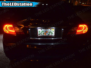 White SMD LED License Plate Lights for Infiniti M37 2011-2013