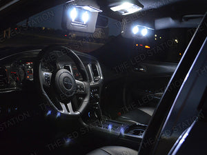 White SMD LED Interior Dome Visors Doors Trunk License Lights Kit for 11-14 Charger
