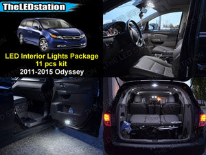 LED Interior and License Plate Lights Kit 2011-2015 Odyssey (11 pcs)