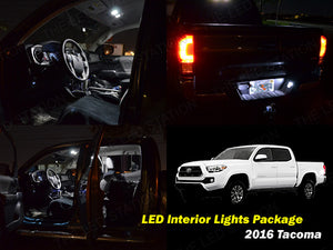 2016-2017 Toyota Tacoma Double Cab LED Interior Lights Kit | Map | Dome | License Plate