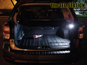 White LED Interior Lights Kit Subaru Forester 2014-2018 (Map, Dome, Door, Trunk, License Plate)