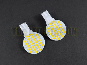 Circular Panel 194 168 158 LED Bulbs 3528SMD Chips (Pair)