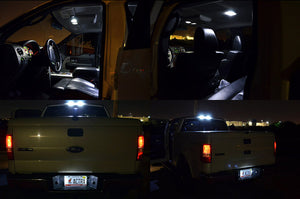 White SMD LED interior Map Dome Cargo and License Plate Lights F150 Crew Cab 04-08