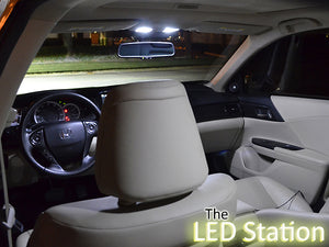 White LED Interior Lights (Interior, Trunk, License Plate) Accord 2013-2017 - 4cyl
