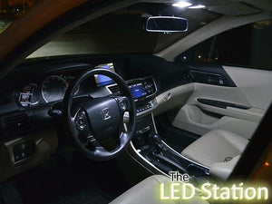 White LED Interior Lights (Interior + Door + Trunk + License Plate) Accord 2013-2017 - V6 only