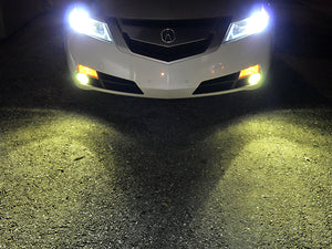 9005 Yellow LED Fog Light Bulbs COB Type (Pair)