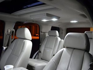 White SMD LED Interior and License Plate Lights 2007-2013 Suburban Tahoe
