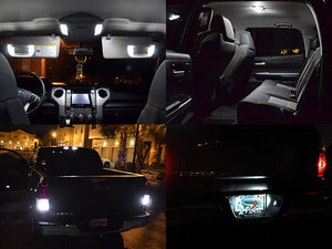 White LED Interior Lights Kit Tundra 14-18 Access / Double Cab (Interior, Vanity, License, Cargo, Reverse)