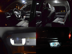 White LED Interior Lights Kit Tundra 14-18 Access / Double Cab (Interior, Vanity, License)