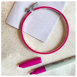 Picture of hoop and colouring pen completed hoop