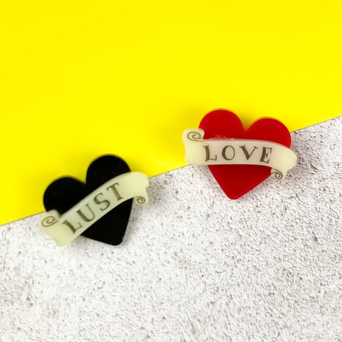 Love or Lust Brooches