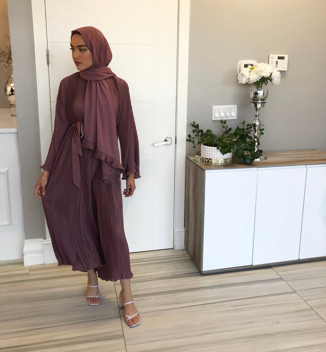 PURPLE ABAYA W/ MATCHING SCARF