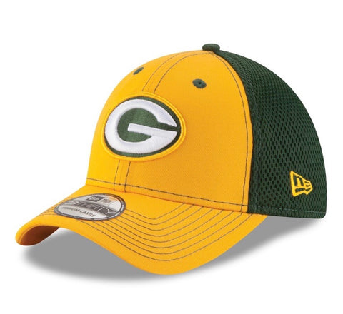 Green Bay Packers New Era Team Front Neo 39Thirty Flex Hat M/L