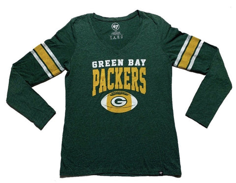 Green Bay Packers Women's 47 Brand Long Sleeve Tee