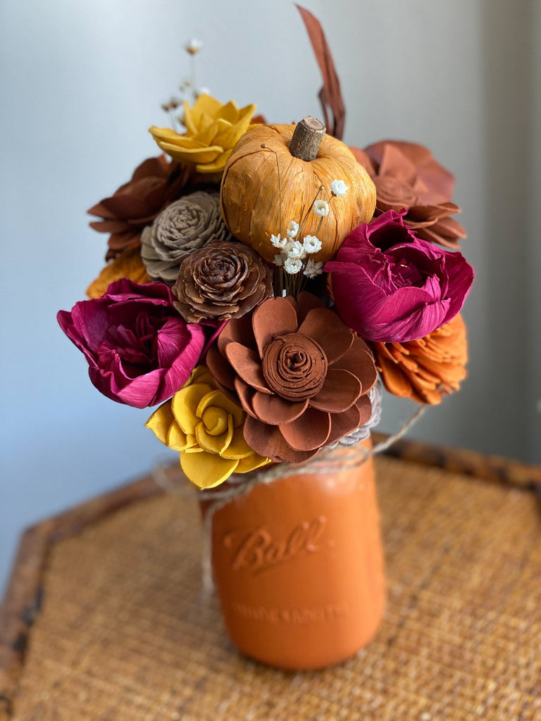 Fallin For You Arrangement Fall & Winter Collection Pine and Petal Weddings