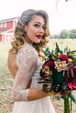 Fall Red Barn Wildflower Wood Flower Bouquet Bouquets Pine and Petal Weddings